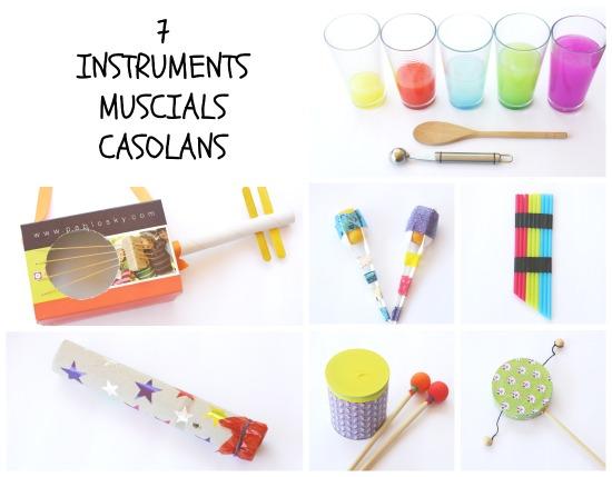 Manualitats infantils: instruments musicals casolans