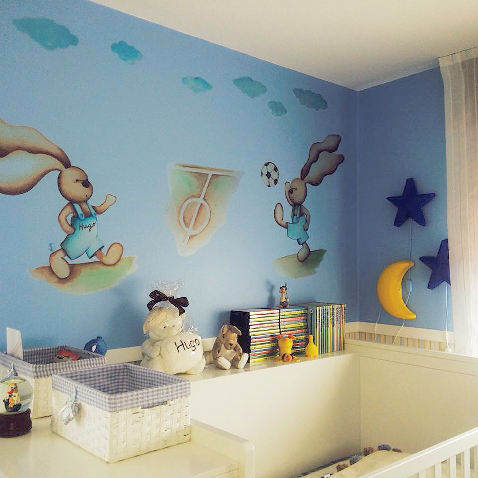 Decopared vinilos para beb s for Pared habitacion infantil