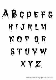 Letras de halloween para imprimir