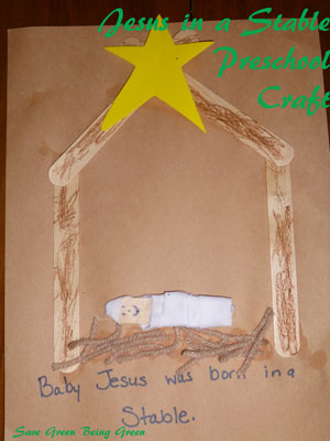 baby jesus craft for preschoolers save green being green jesus in a stable preschool craft 401