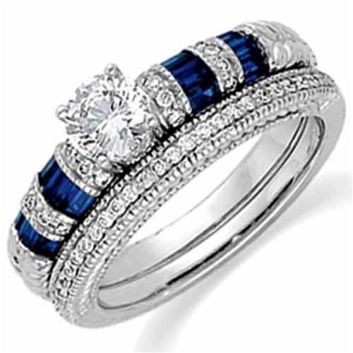 Blue Diamond Wedding Rings