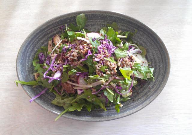 Social Brew Cafe, Pyrmont, Sydney, pulled pork, quinoa, salad
