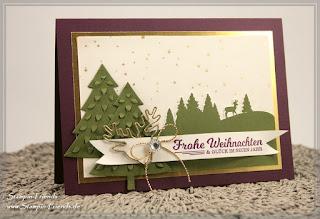 Weihnachtskarte, Stampin Up