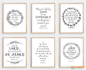 These Six Scripture Printables For Comfort Are Popular in the Shop Right Now!