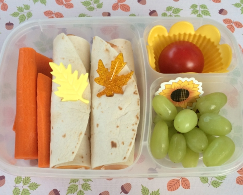 Autumn Sunflower bento in Easylunchboxes