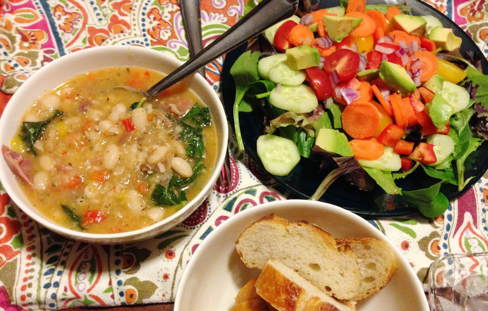 The quest for Grandma's ham and bean soup: A for-now recipe