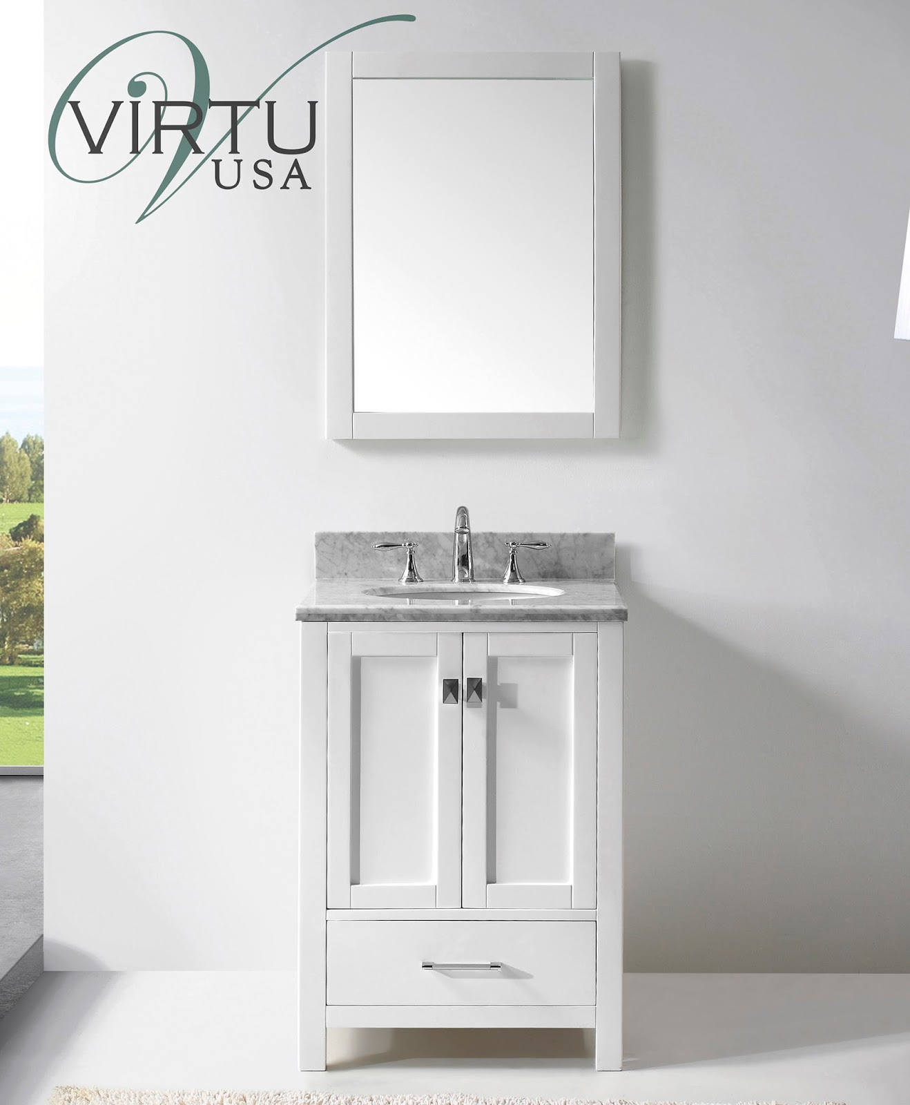 Discount bathroom vanities stylish space with a small for Double vanity for small bathroom