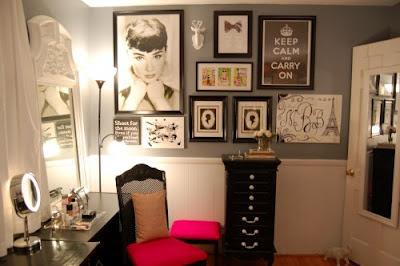 decoração com Audrey Hepburn