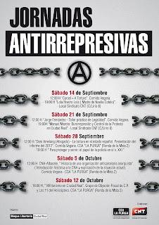 Anarquistas,CNT AIT ,Ciudad Real, Jornadas Antirrepresivas ,CSA La Purga,Noelia Cotelo,
