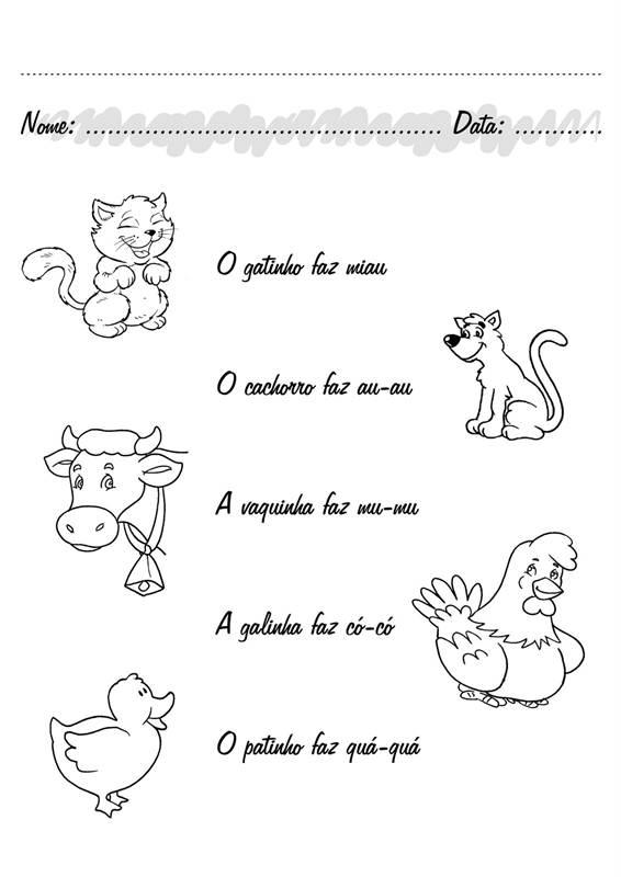 Atividades De Educação Infantil Sobre Animais Educação Sem Limites