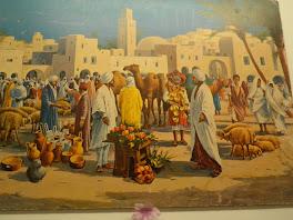 une scène de marché typique au sud de la tunisie