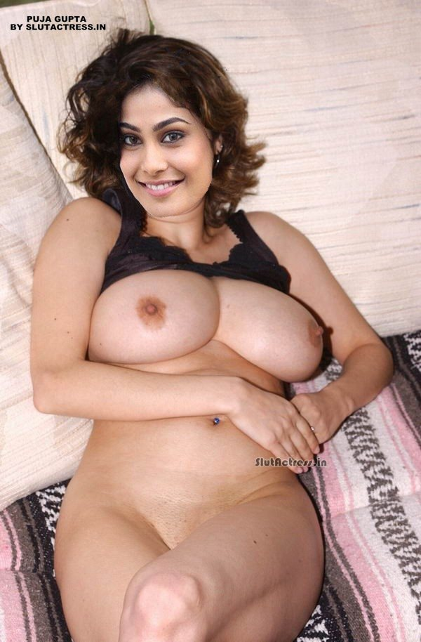 Puja Gupta Nude Showing Boobs And Nipple Lying On Bed Fake