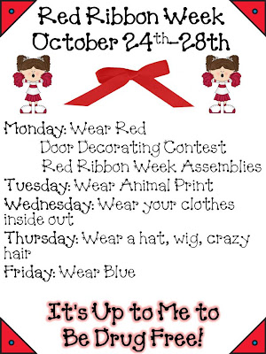 ideas for red ribbon week door decorating contest | just b ...