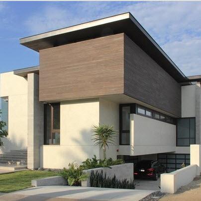casa de tres pisos de lineas simples