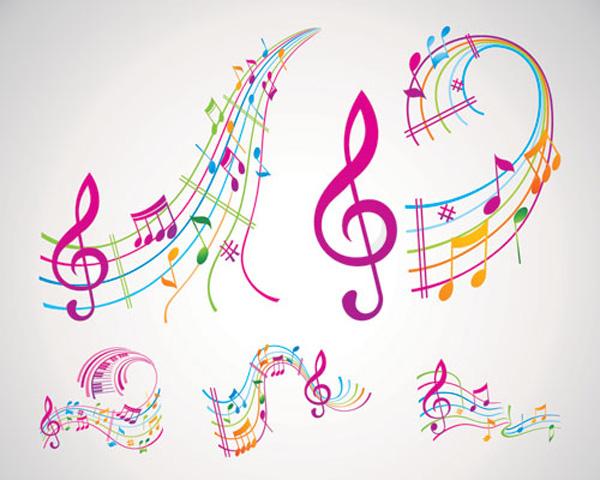 カラフルな音符 Abstract musical ... : アルファベット ダウンロード : すべての講義