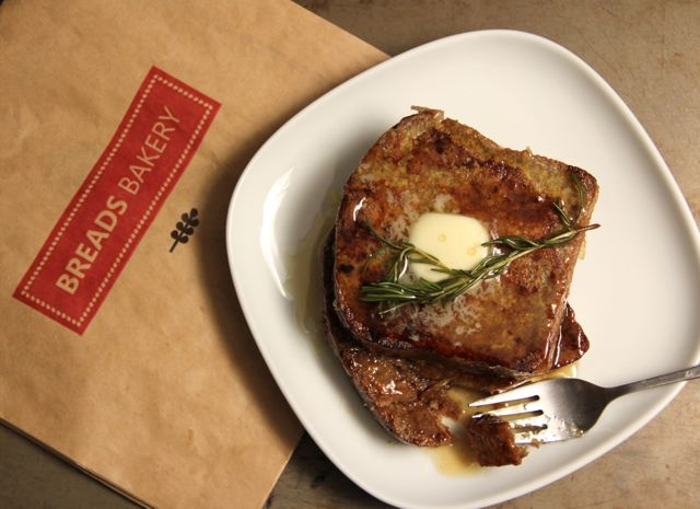French Toast with Rosemary Maple Syrup