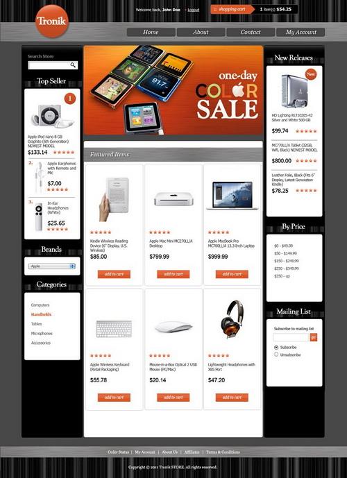 Tronik E-store Template