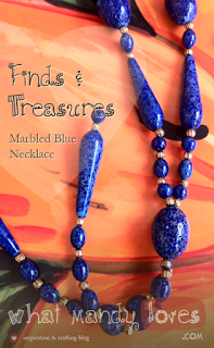 Lovely Find & Treasure: Marbled Blue Necklace via www.whatmandyloves.com