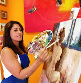 Artista Plástica - Silvaney Vasconcelos  - pintando