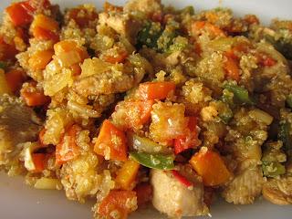 Cocina y descubre quinoa con pollo y verduras for Cocina quinoa con verduras