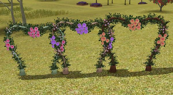 my sims 3 wedding arch by