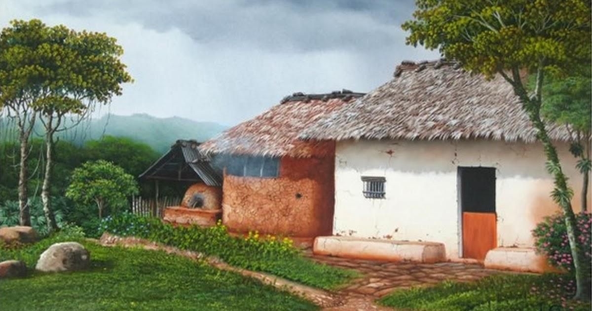 Cuadros modernos pinturas y dibujos galeria cuadros de - Paisajes de casas de campo ...
