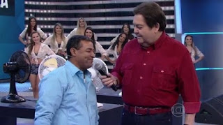 Arapiraquense participa do Domingão do Faustão e arranca gargalhadas do público