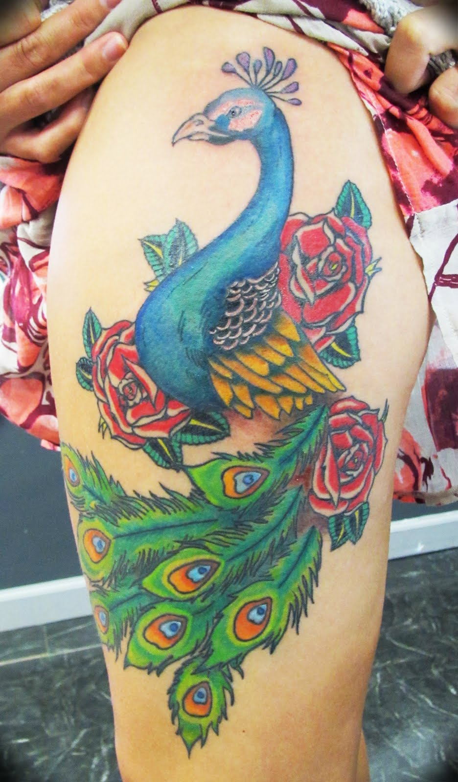 Andrés Acosta: Peacock Tattoo