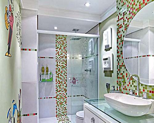 Sonhar Juntos BANHEIRO  PASTILHAS DE VIDRO vamos brincar de decorar! -> Banheiro Com Pastilha De Vidro No Chao