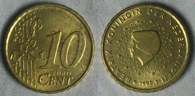 netherland 10 cent 1999
