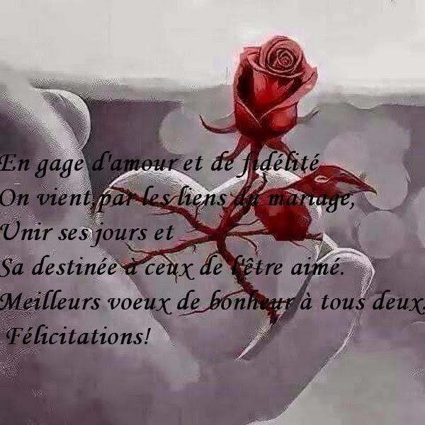 par les liens du mariage - Texte De Felicitation De Mariage