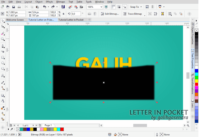 Best CorelDRAW Tutorial Text Effect Typography
