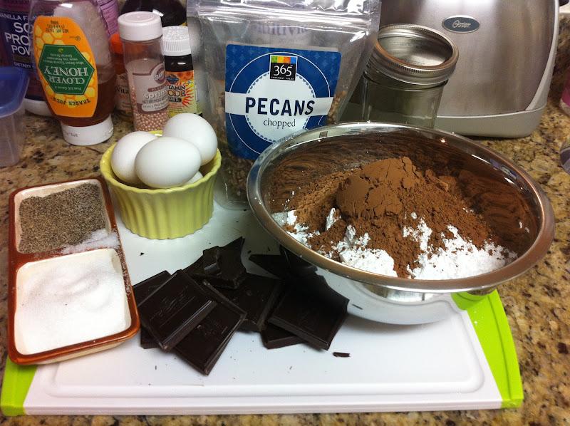 Stracciatella: Flourless Double Chocolate Pecan Cookies