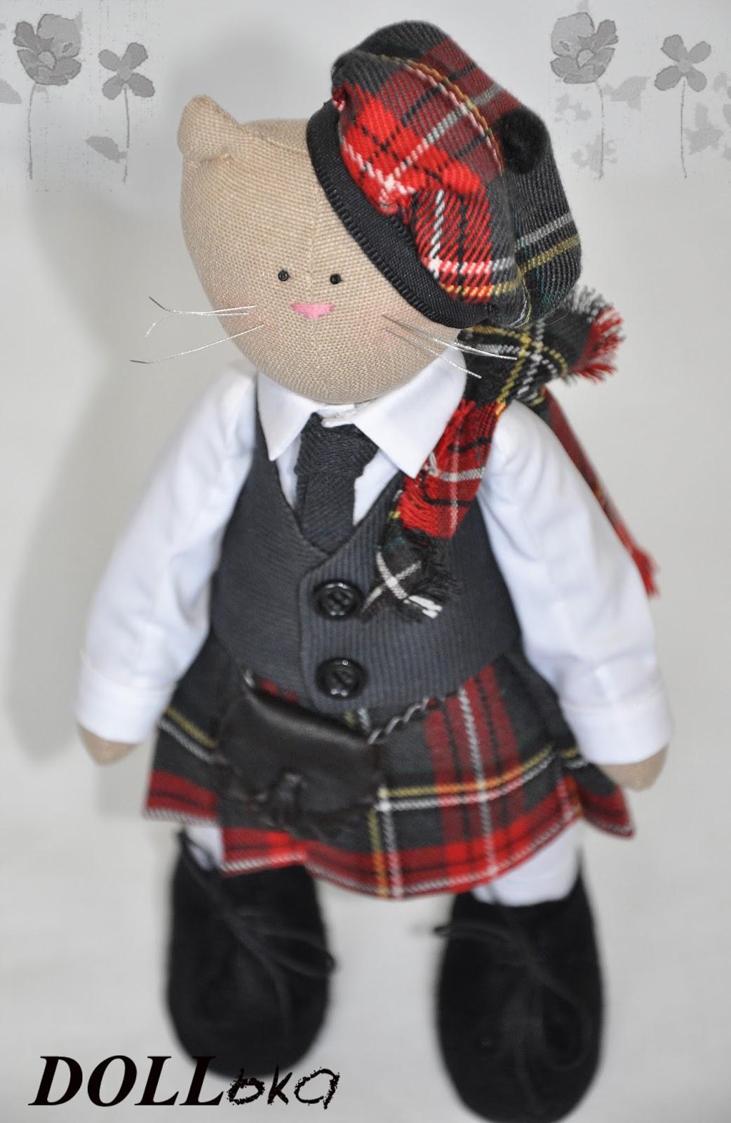 Кот шотландец ручной работы