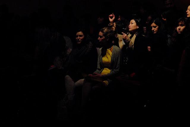 zoe jordan catwalk audience lfw aw13