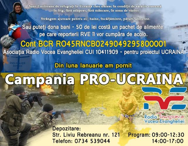 Campania Pro-Ucraina - RVE merge în Ucraina