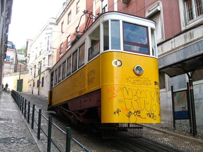 The Glória Funicular, Lisbon | Elevador da Glória, Portugal
