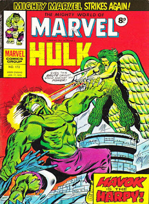 Mighty World of Marvel #172, Hulk vs the Harpy