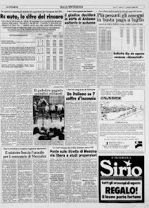 LA STAMPA 21 LUGLIO 1983