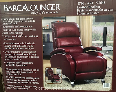 Having the Barcalounger Leather Recliner is like having your very own front row seat