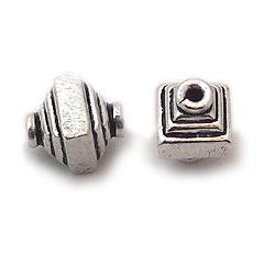 Unique Silver Stamped Assortment Beads