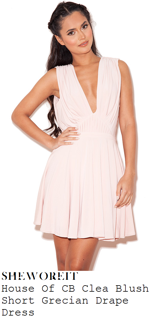 vicky-pattison-nude-pink-sleeveless-plunge-front-draped-pleated-mini-dress