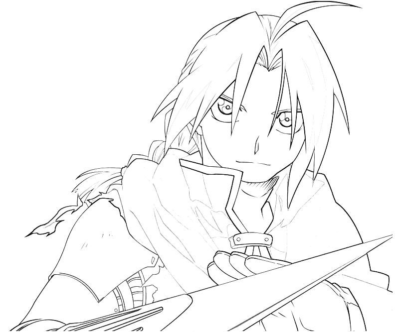 free fullmetal alchemist coloring pages - photo#11