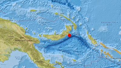 Epicentro terremoto 7,5 grados en Papúa Nueva Guinea, 05 de Mayo 2015