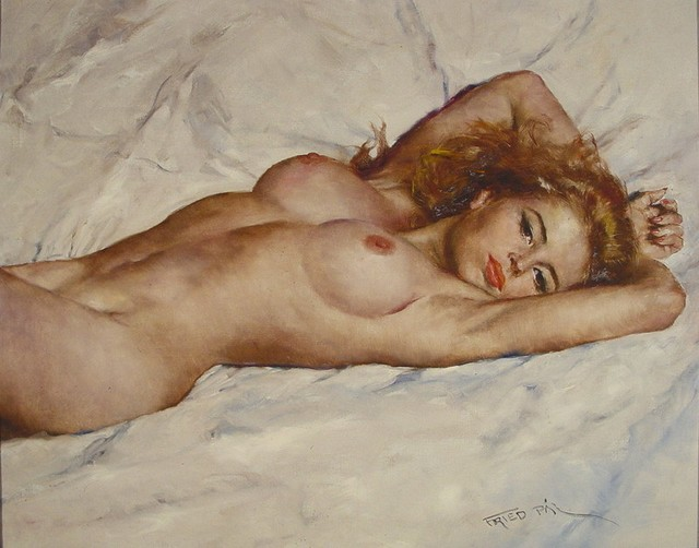 D.W.C. Sexy Woman - Artist Pál Fried 1893-1976