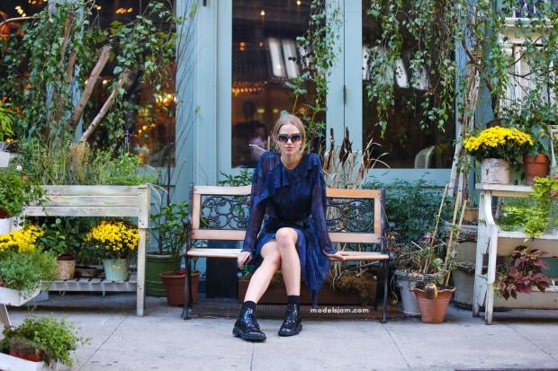 Sasha Luss, New York, September 2015