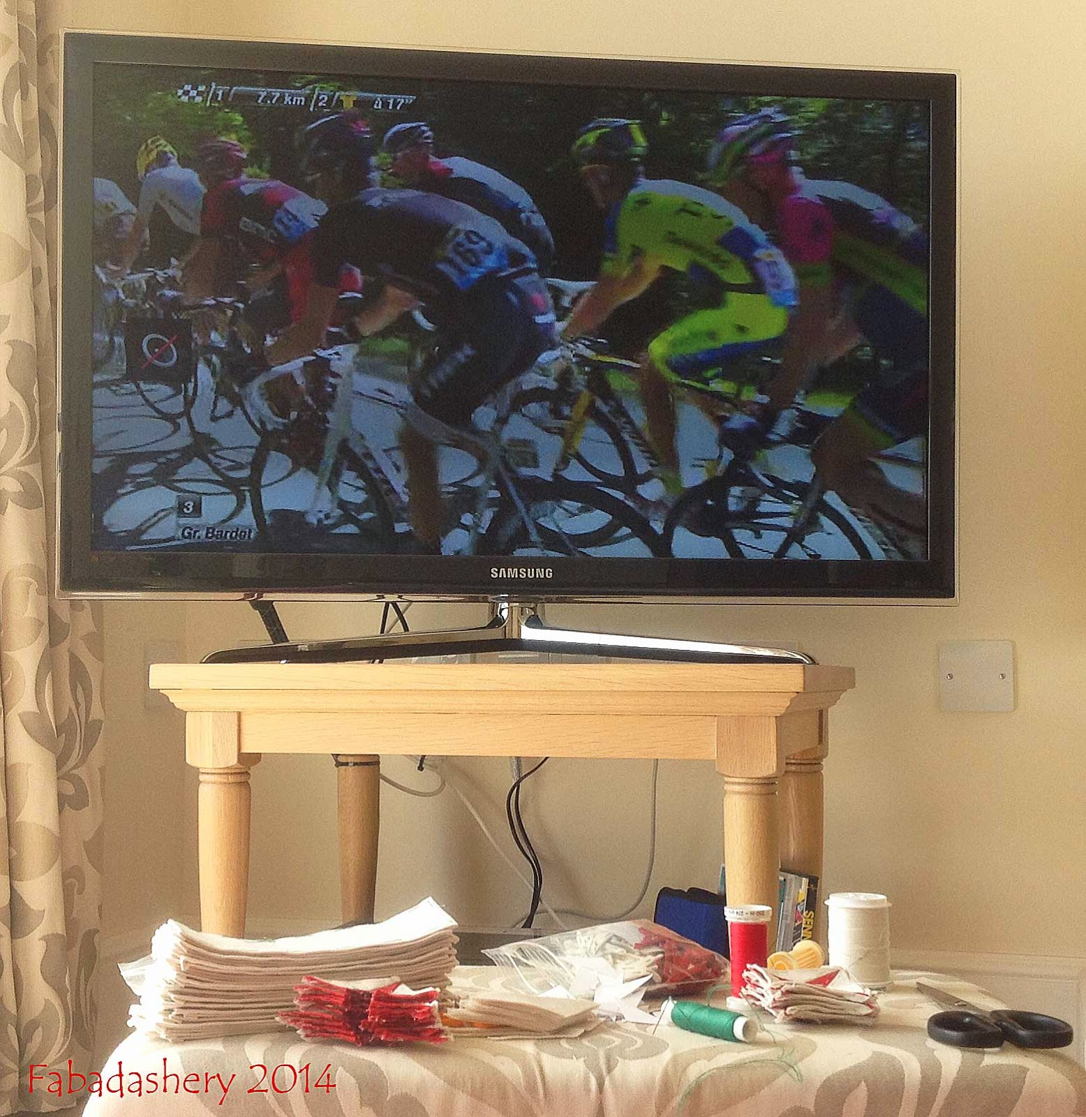 Tour de France 2014 - stitching as I go