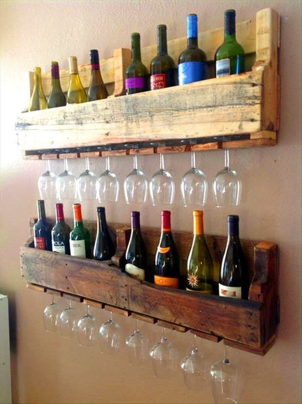 Ideas de botelleros hechos con palets - Botelleros para bares ...