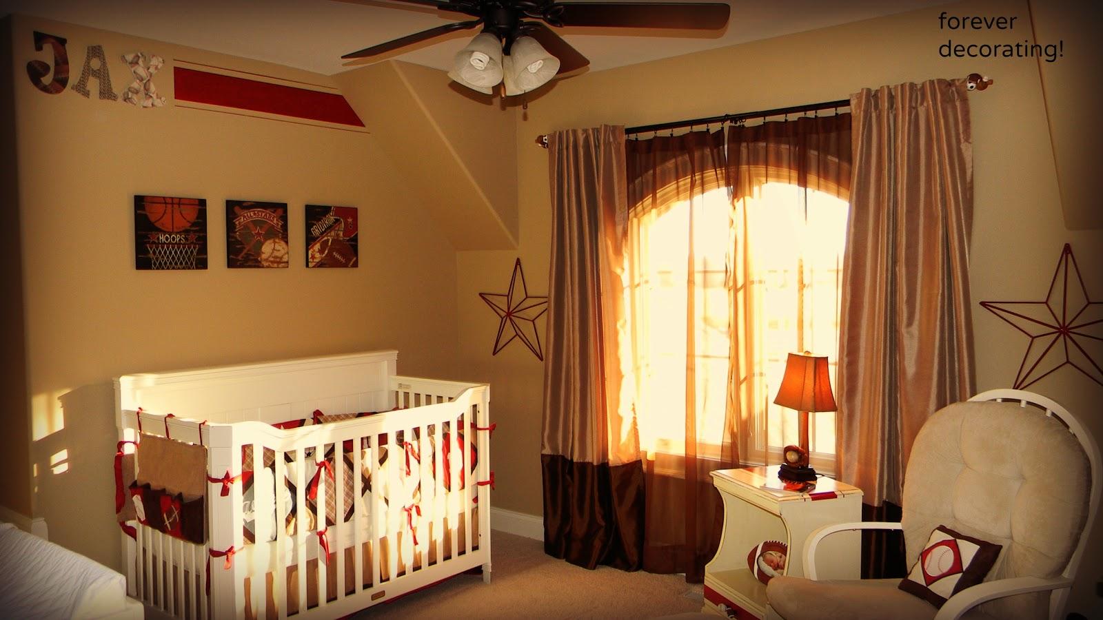 forever decorating sports theme nursery. Black Bedroom Furniture Sets. Home Design Ideas