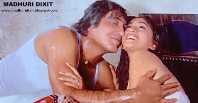 Madhuri and Vinod Kiss